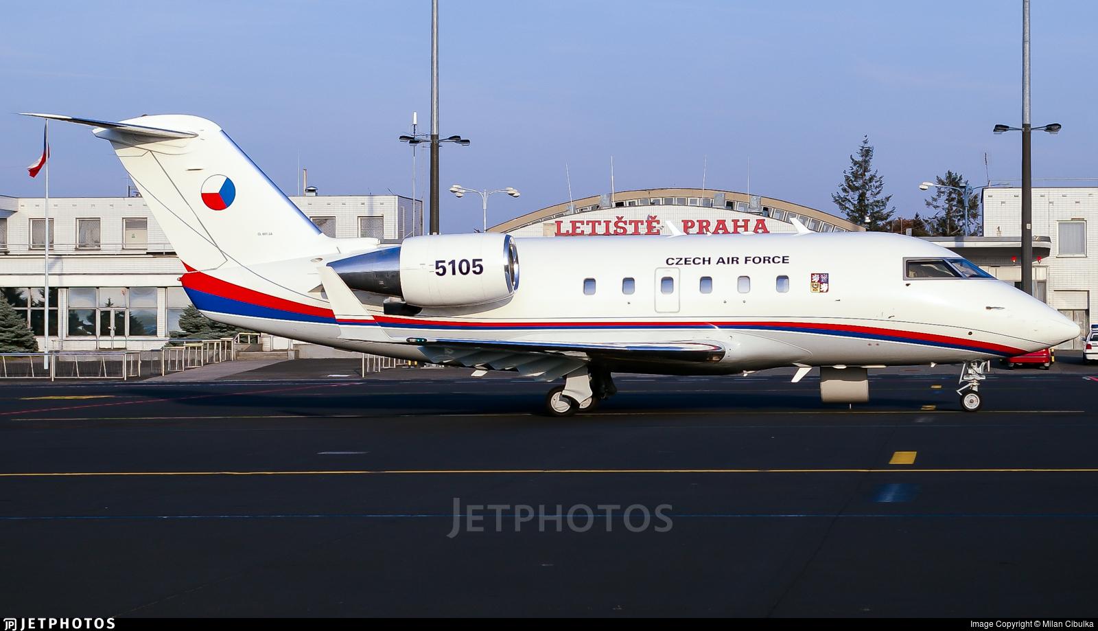 5105 - Bombardier CL-600-2B16 Challenger 601-3A - Czech Republic - Air Force