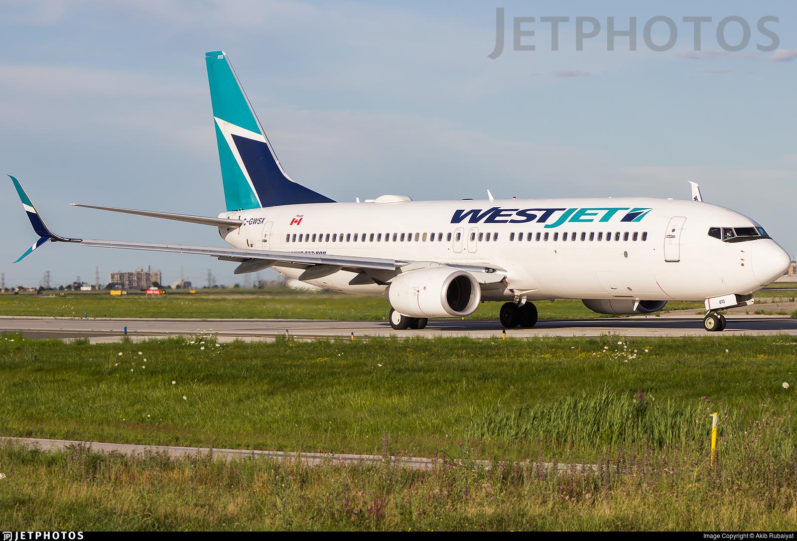 C-GWSX - Boeing 737-8CT - WestJet Airlines