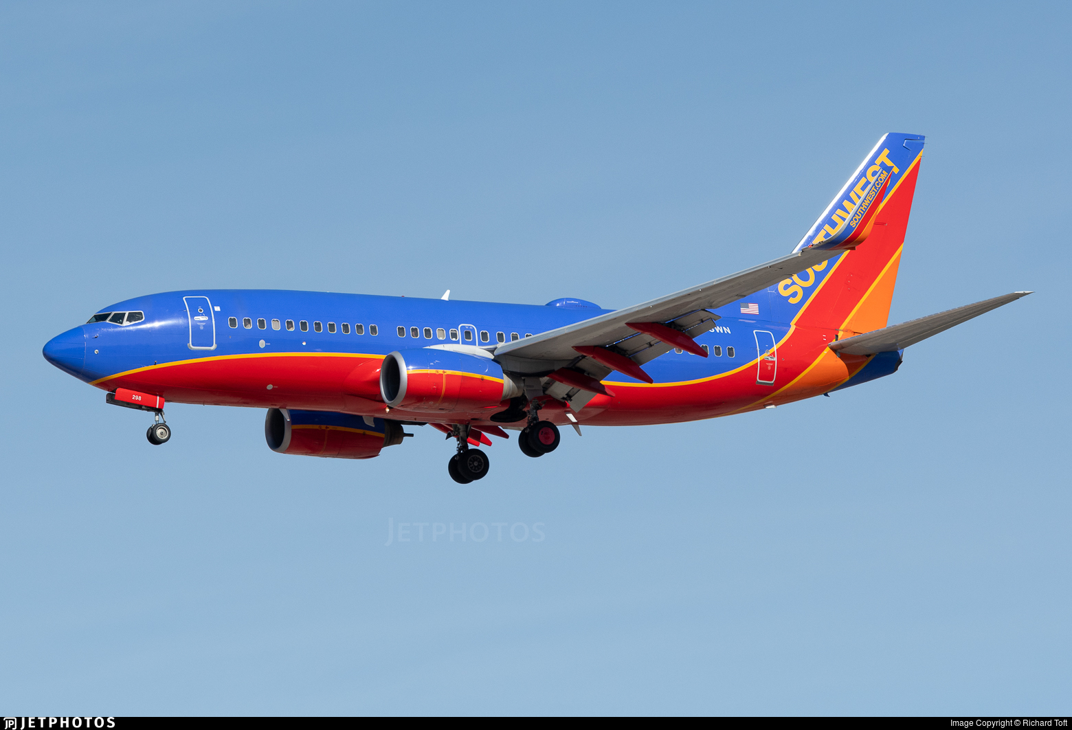 N298WN - Boeing 737-7H4 - Southwest Airlines