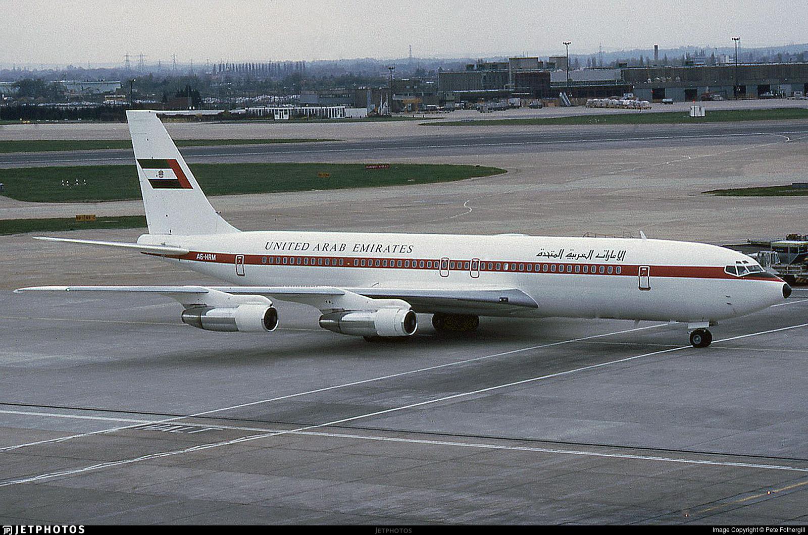 A6-HRM - Boeing 707-3L6C - United Arab Emirates - Dubai Air Wing