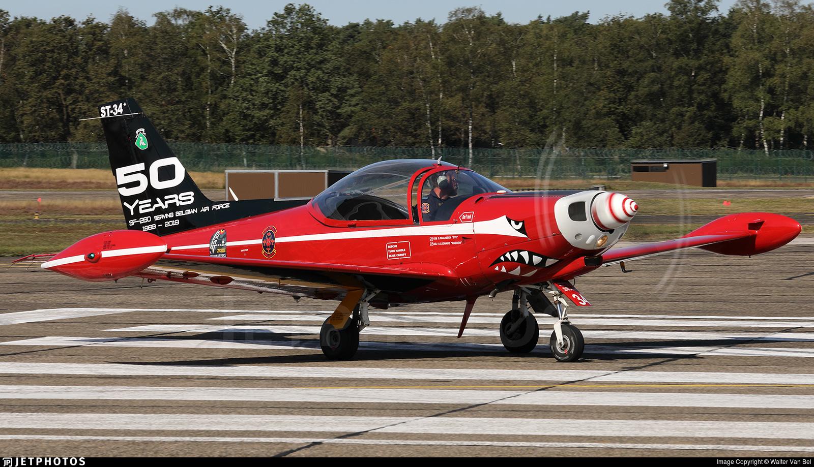 ST-34 - SIAI-Marchetti SF260M+ - Belgium - Air Force
