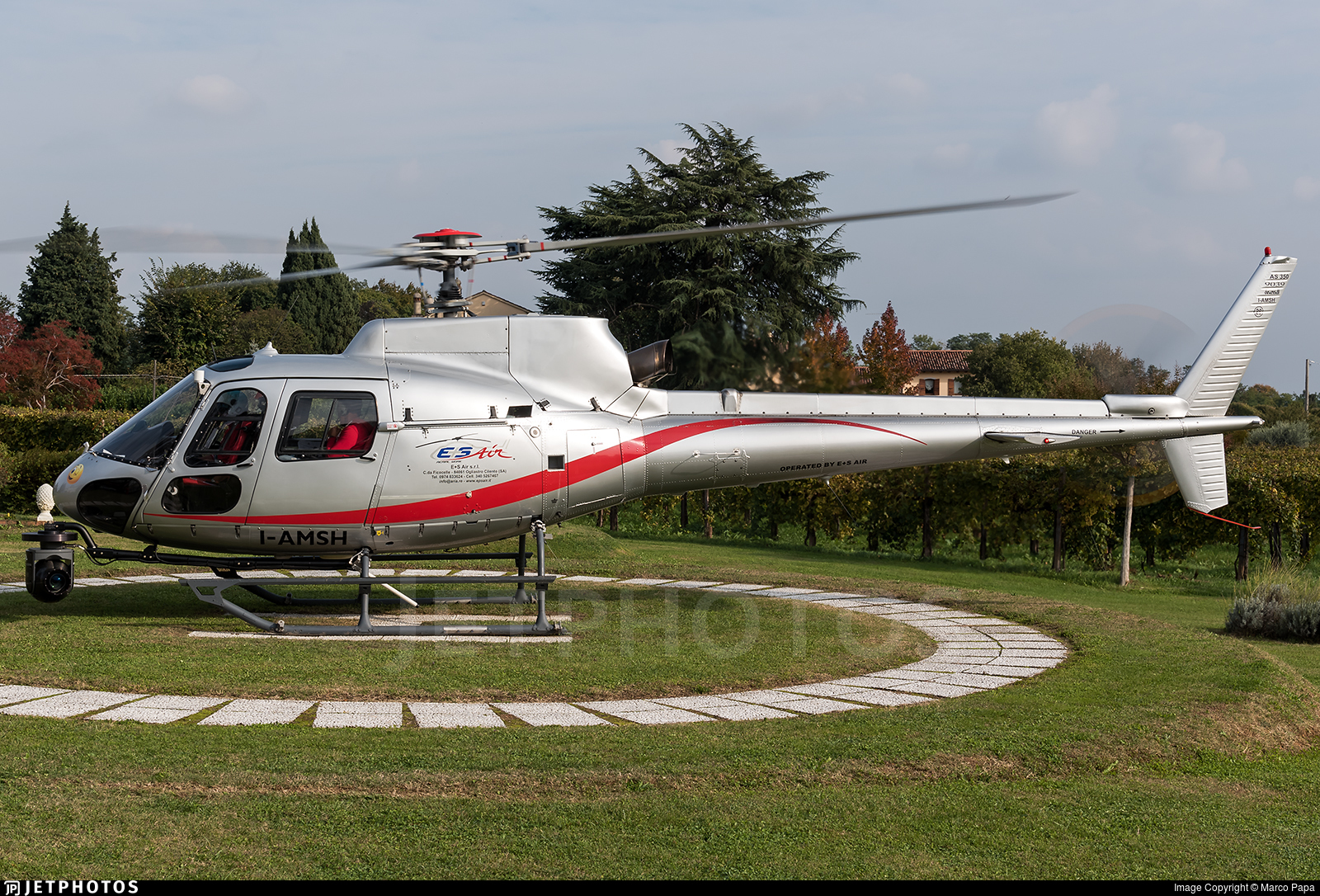 I-AMSH - Eurocopter AS 350B2 Ecureuil - E+S Air