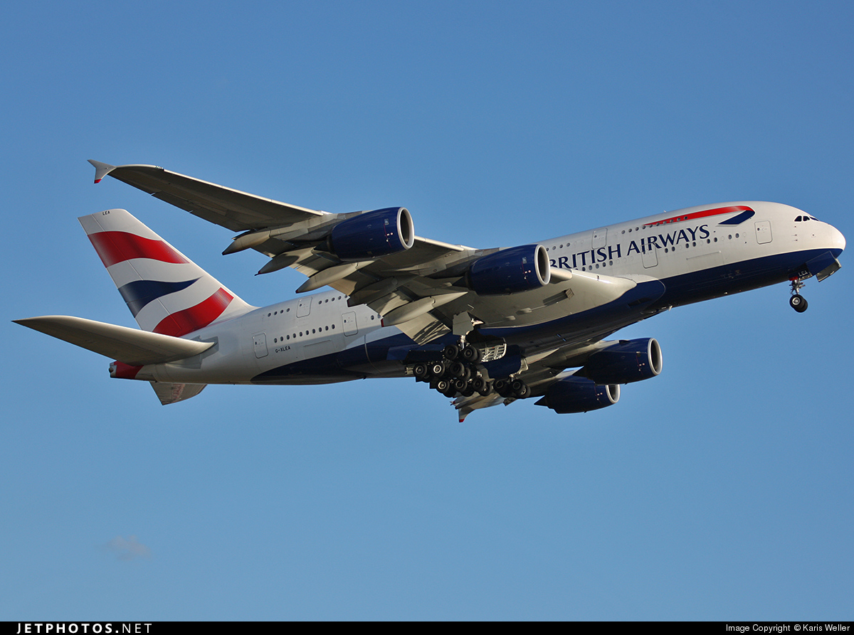 G-XLEA - Airbus A380-841 - British Airways