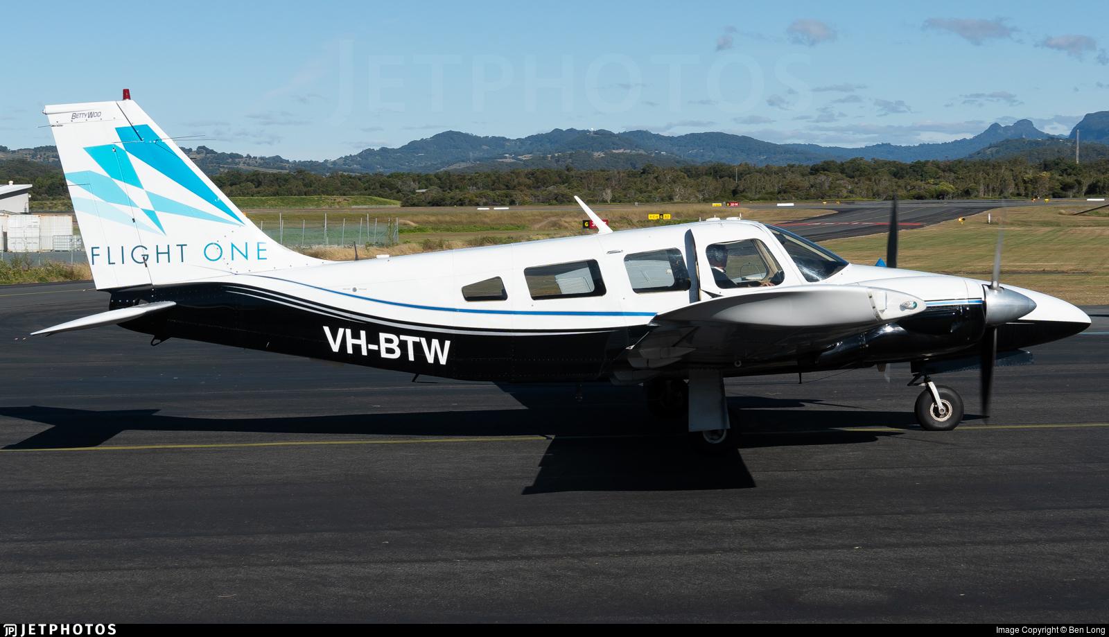 VH-BTW - Piper PA-34-200 Seneca - Flight One