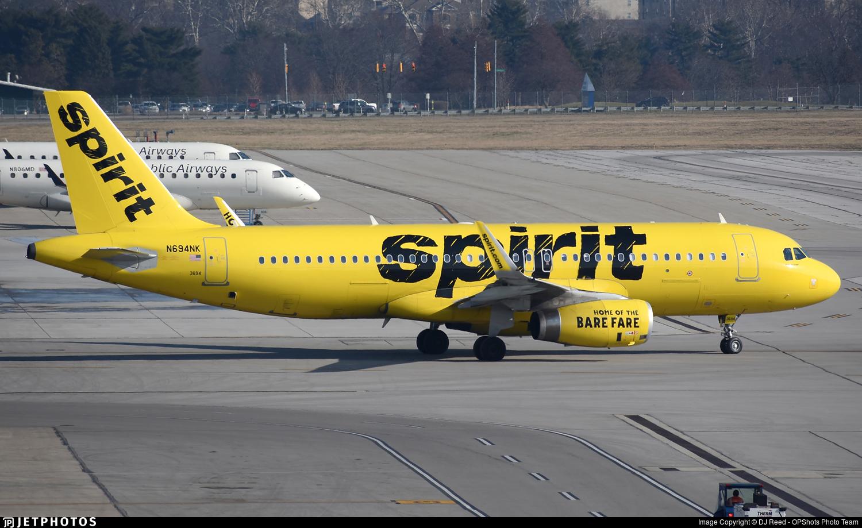 N694NK - Airbus A320-232 - Spirit Airlines