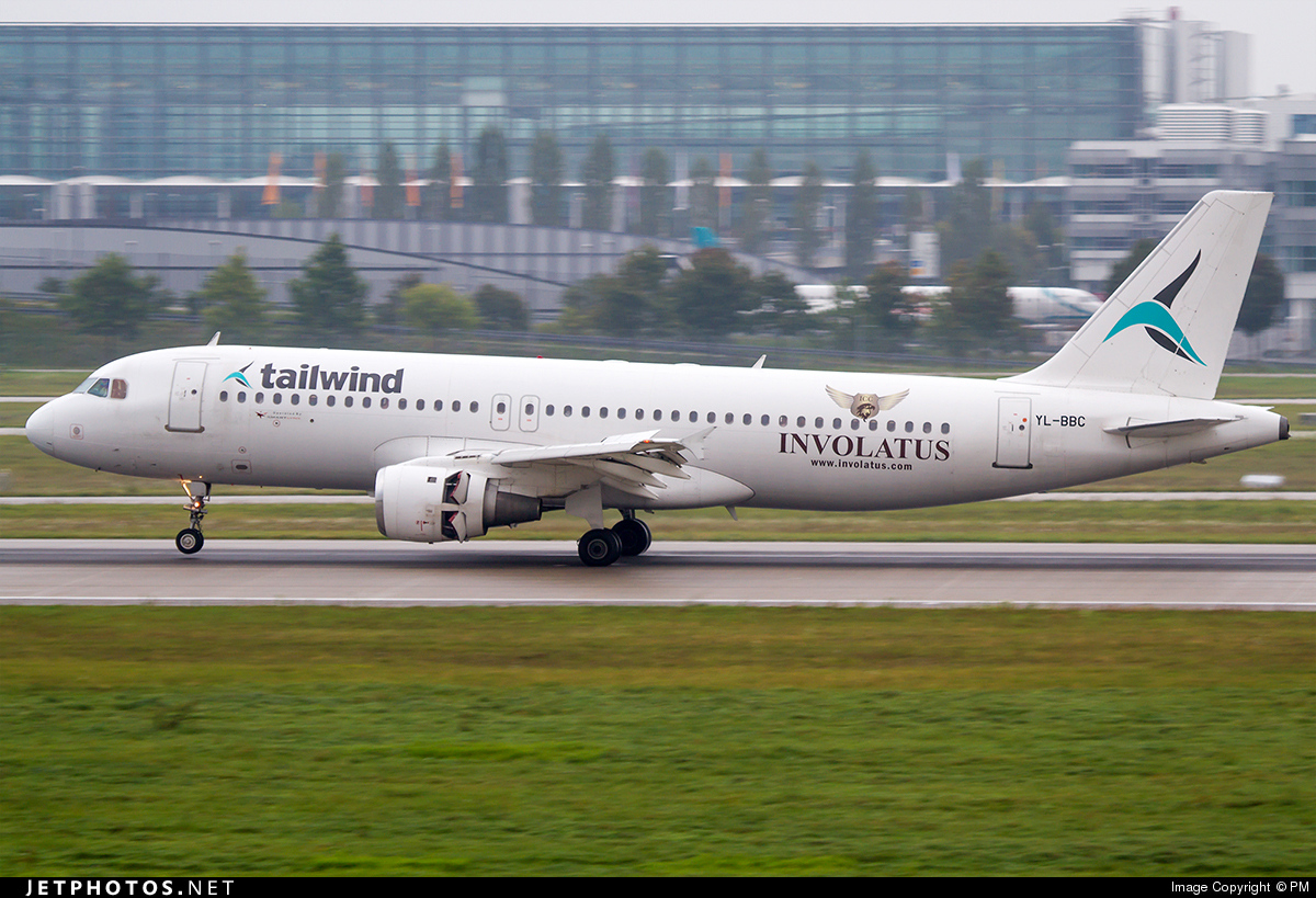 YL-BBC - Airbus A320-211 - Tailwind Airlines (SmartLynx Airlines)