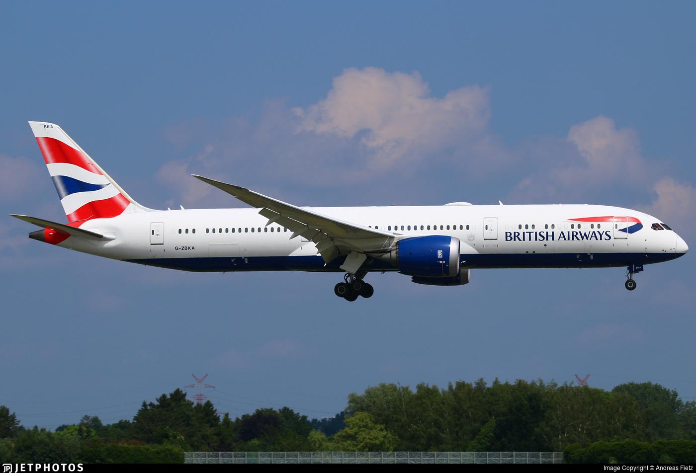 G-ZBKA - Boeing 787-9 Dreamliner - British Airways
