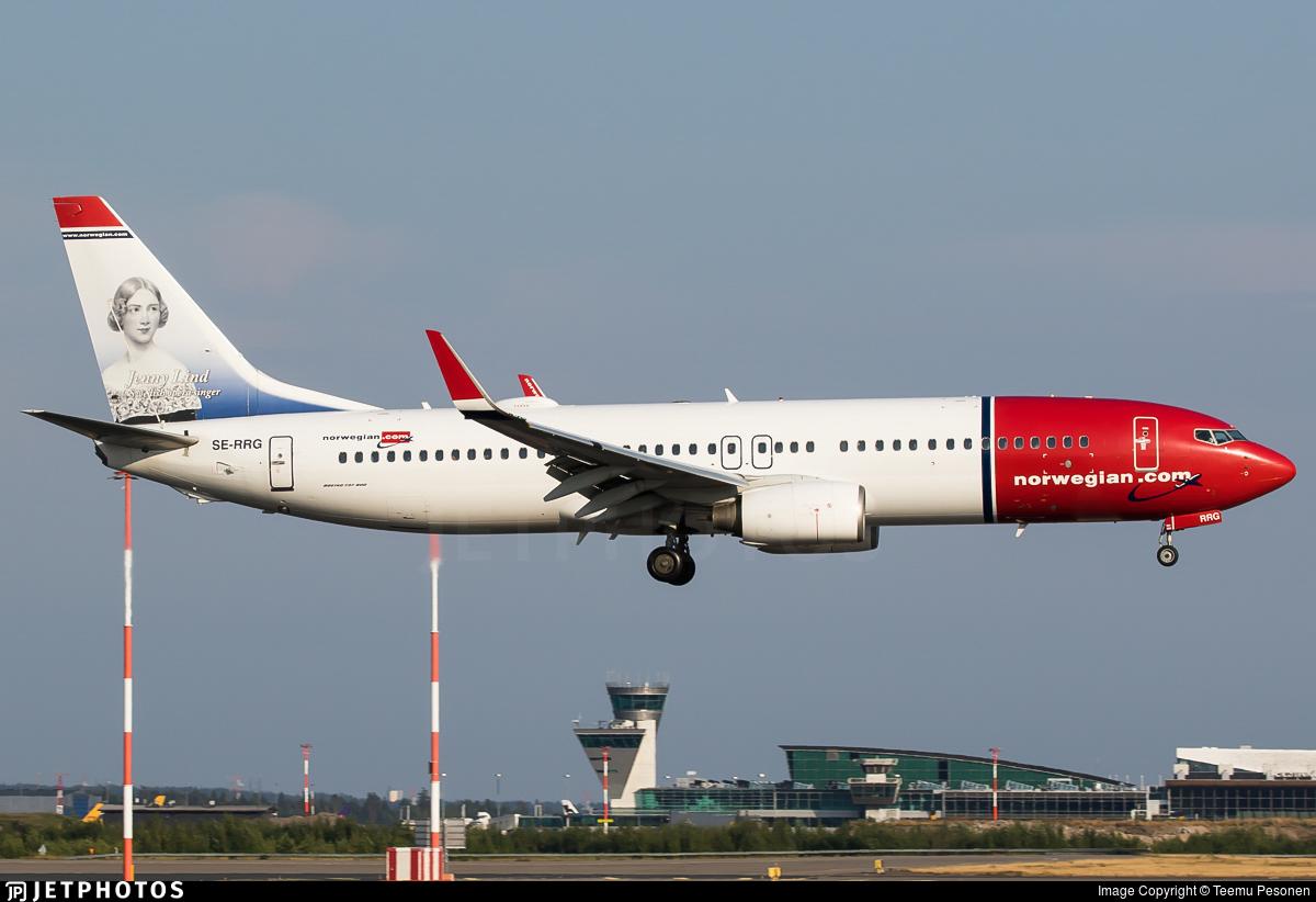 SE-RRG - Boeing 737-8JP - Norwegian
