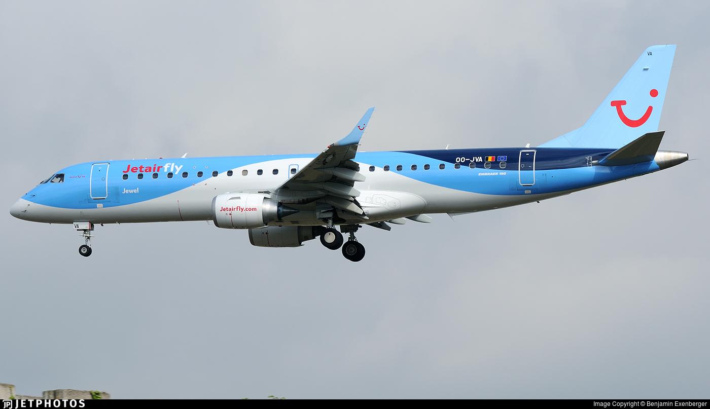 OO-JVA - Embraer 190-100STD - Jetairfly