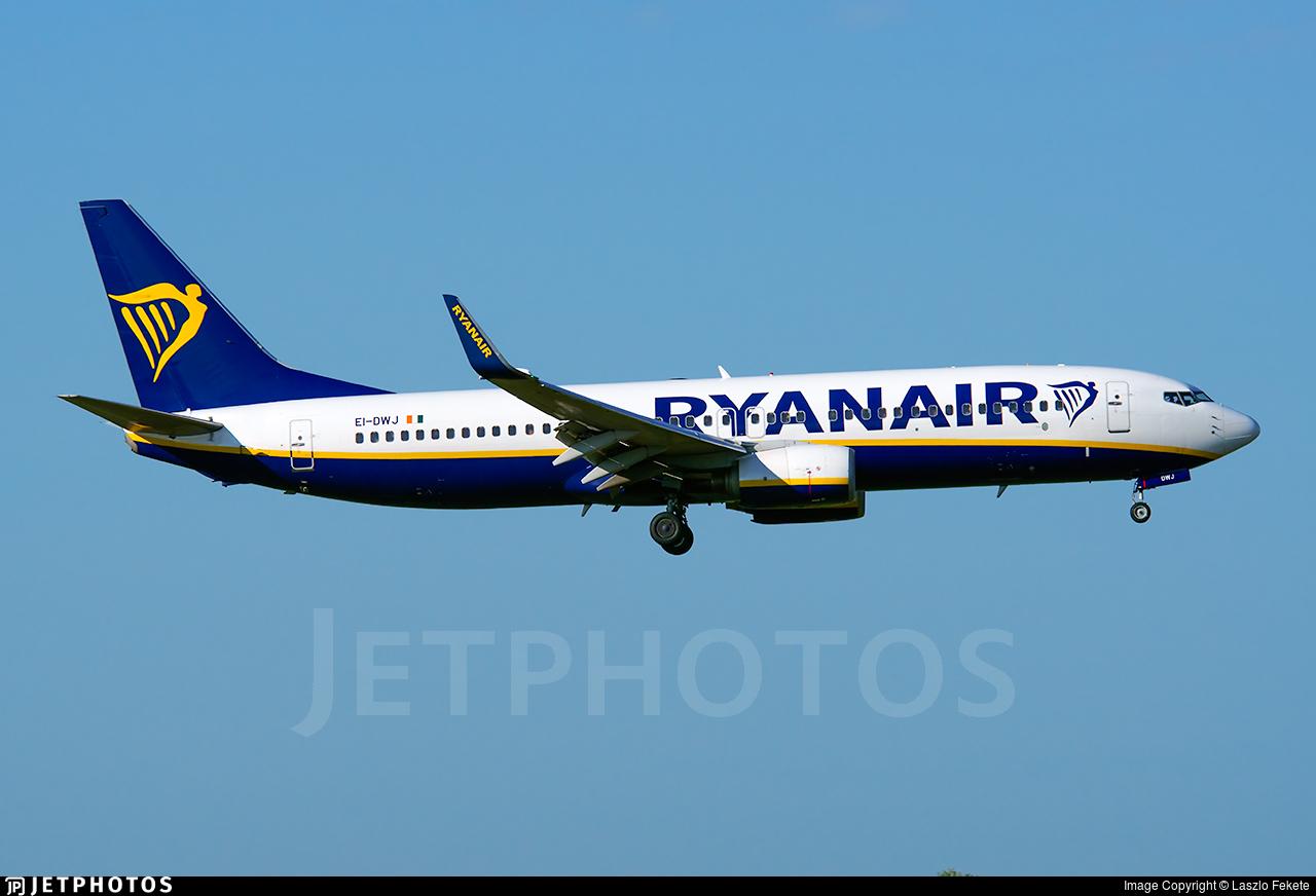 EI-DWJ - Boeing 737-8AS - Ryanair