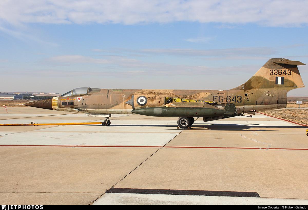33643 - Lockheed F-104G Starfighter - Greece - Air Force