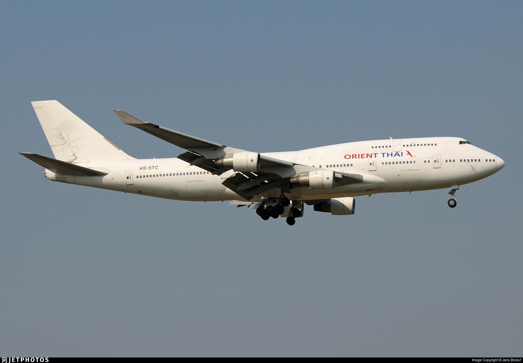 HS-STC - Boeing 747-412 - Orient Thai Airlines