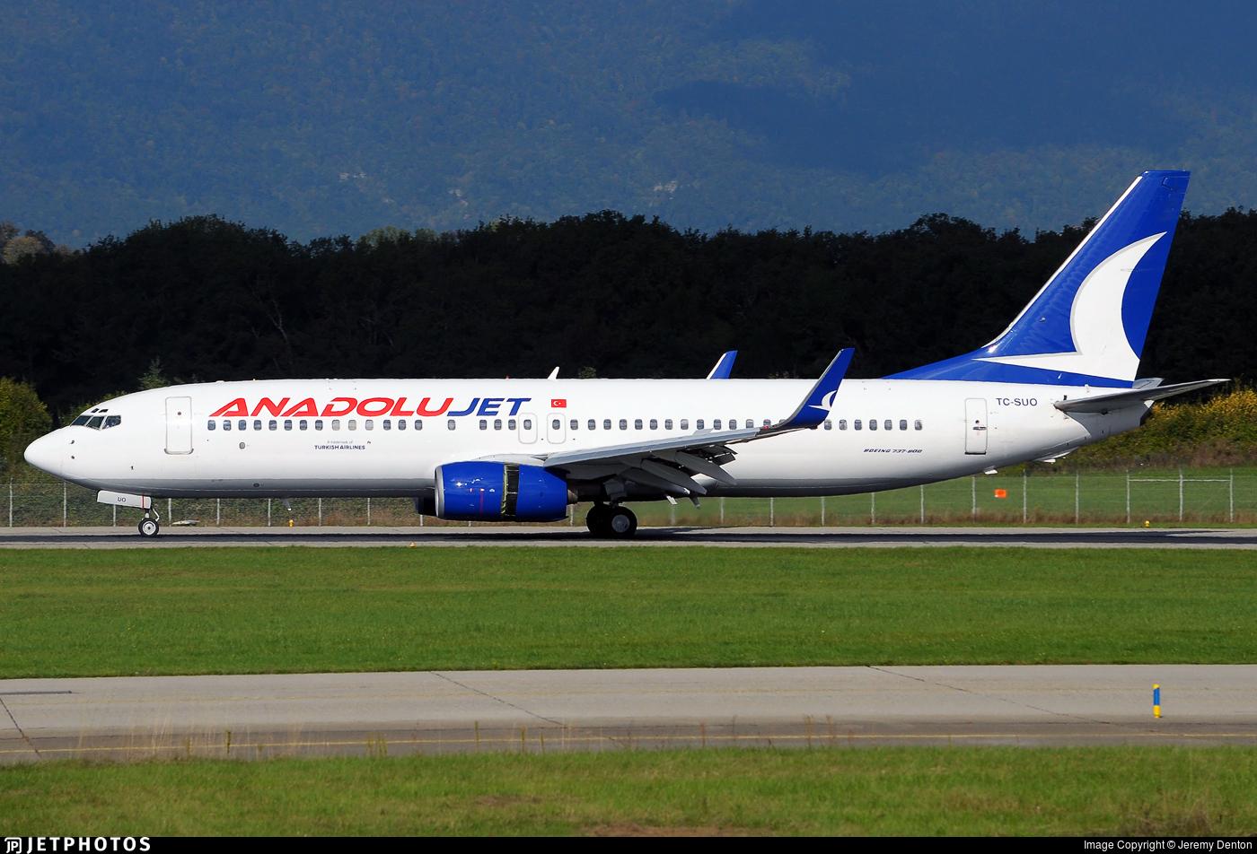 TC-SUO - Boeing 737-86Q - AnadoluJet