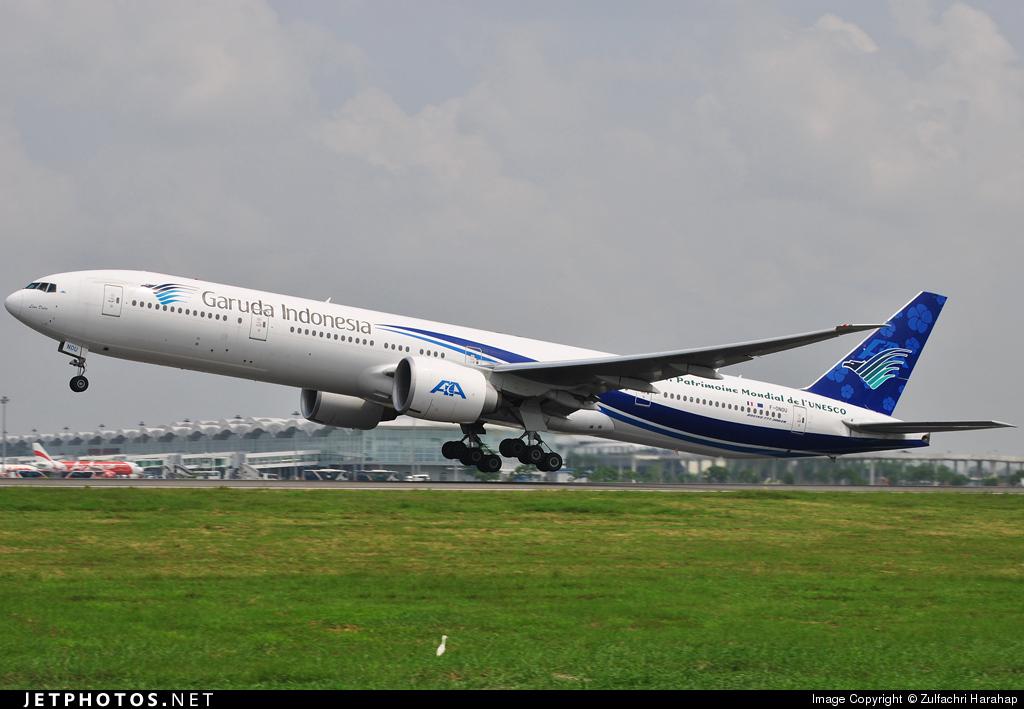 F-ONOU - Boeing 777-3Q8ER - Garuda Indonesia (Air Austral)