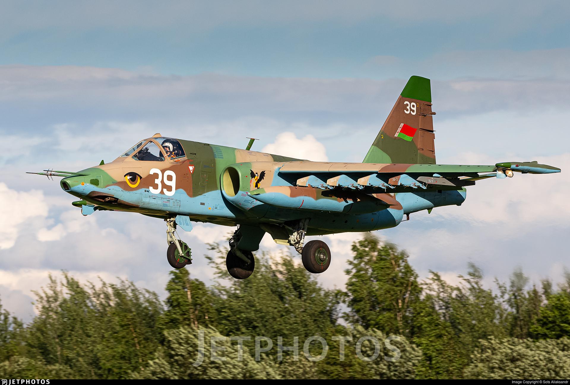 39 - Sukhoi Su-25 Frogfoot - Belarus - Air Force