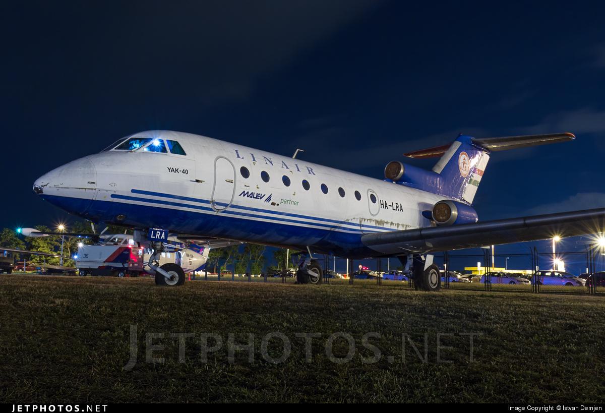 HA-LRA - Yakovlev Yak-40 - Hungarian Airport Administration (LRI)