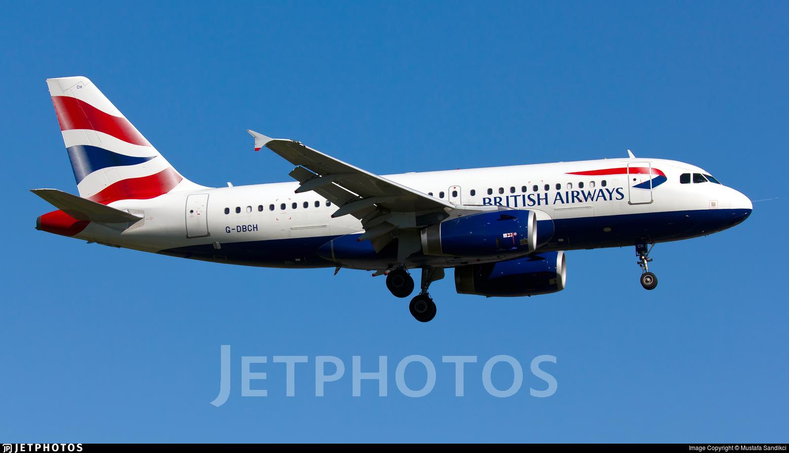G-DBCH - Airbus A319-131 - British Airways