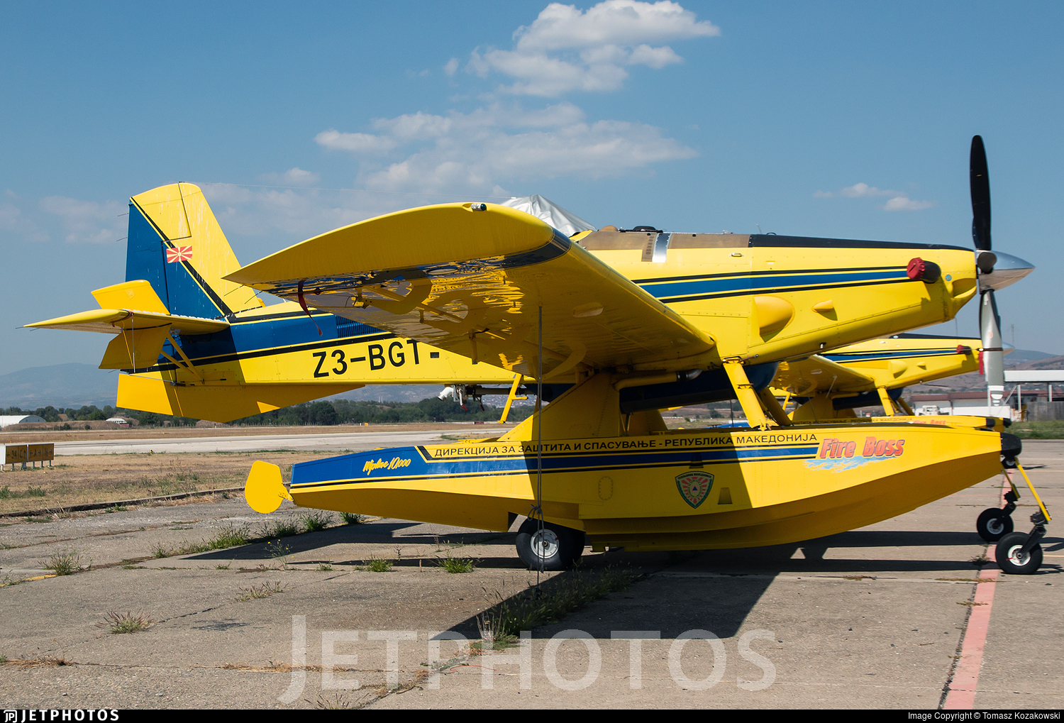 Z3-BGT - Air Tractor AT-802A Fire Boss - North Macedonia - Protection and Rescue Directorate