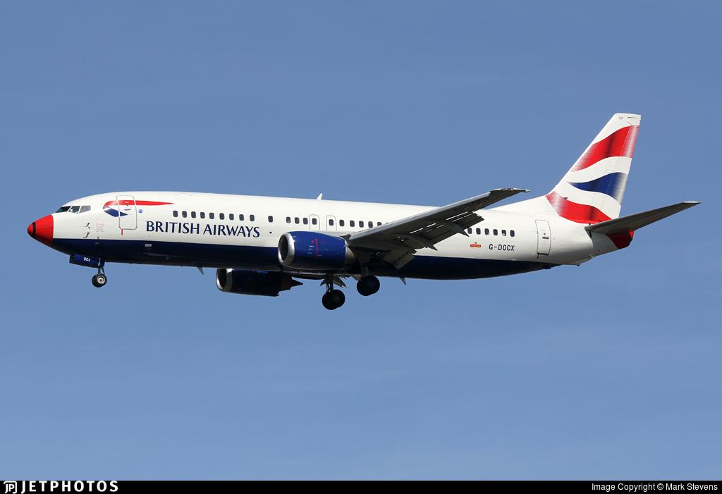 G-DOCX - Boeing 737-436 - British Airways