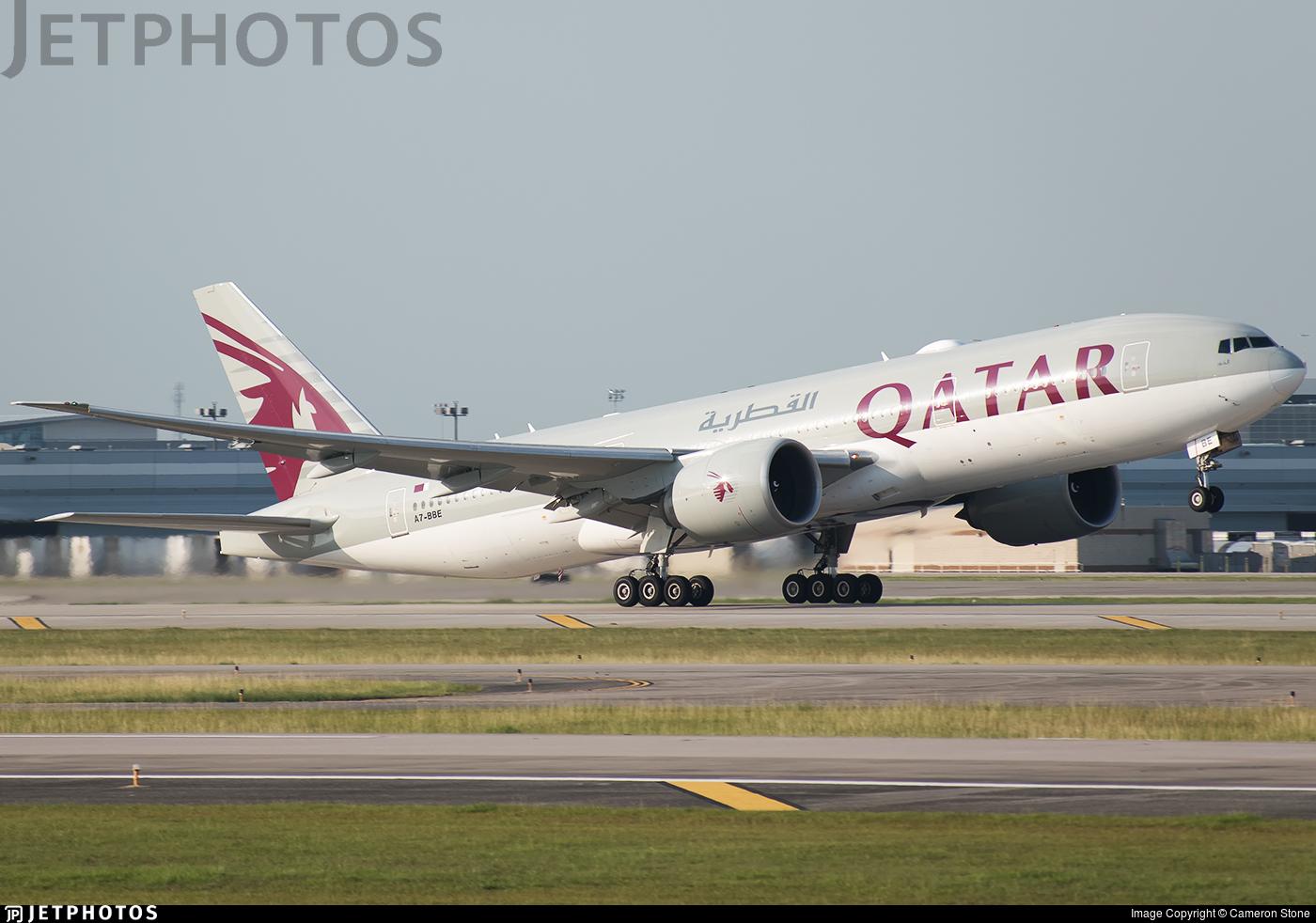 A7-BBE | Boeing 777-2DZLR | Qatar Airways | Cameron Stone