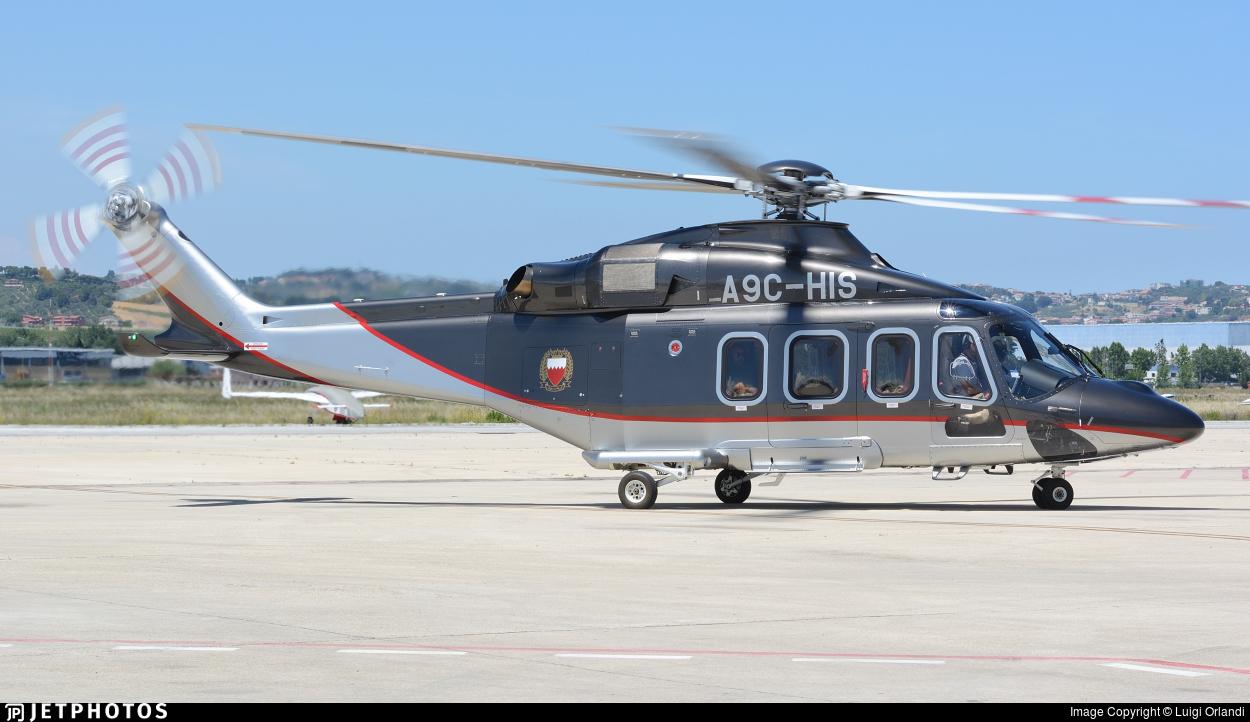 A9C-HIS - Agusta-Westland AW-139 - Bahrain - Royal Flight