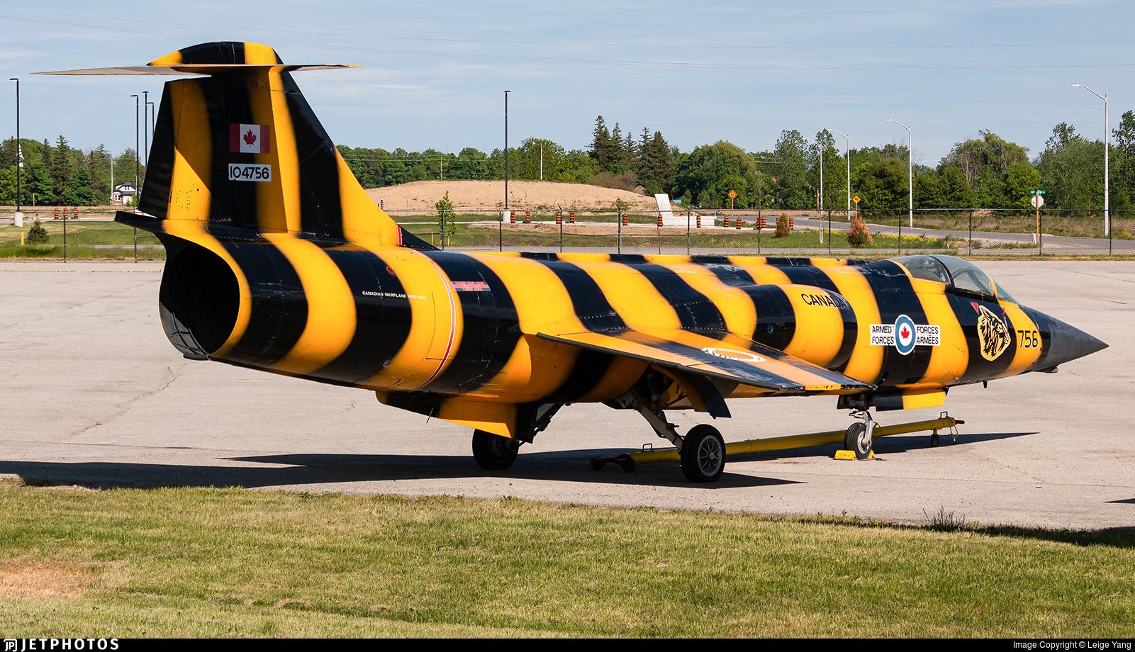 104756 - Canadair CF-104 Starfighter - Canada - Royal Canadian Air Force (RCAF)