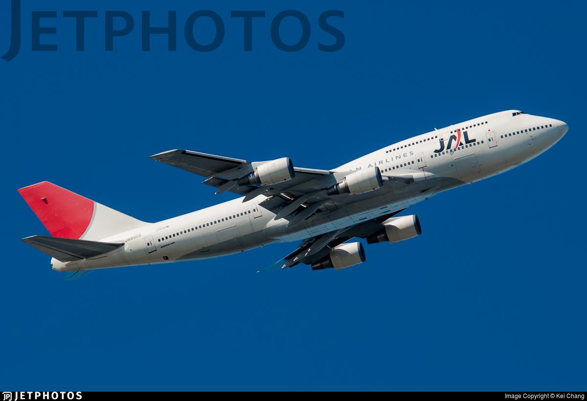 JA8908 - Boeing 747-446D - Japan Airlines (JAL)