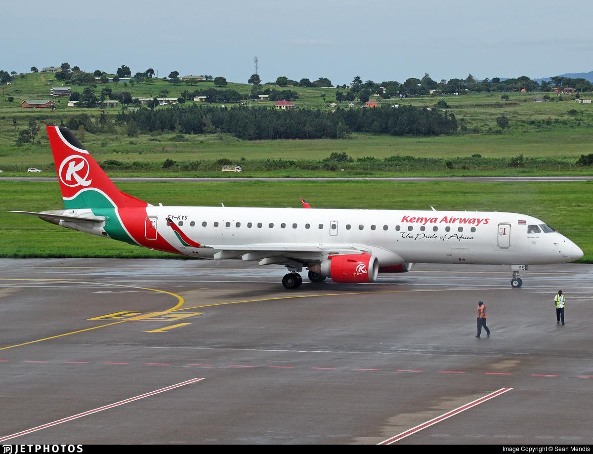 5Y-KYS - Embraer 190-100IGW - Kenya Airways