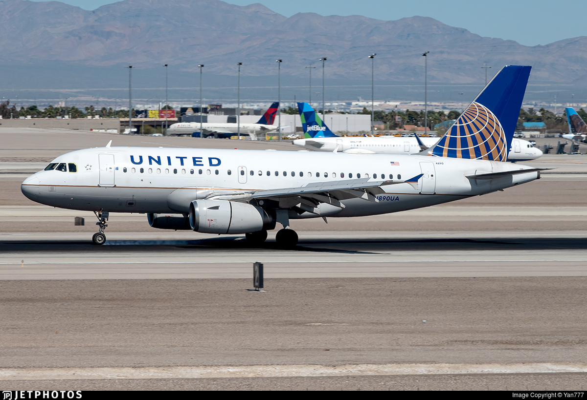 N890UA - Airbus A319-132 - United Airlines