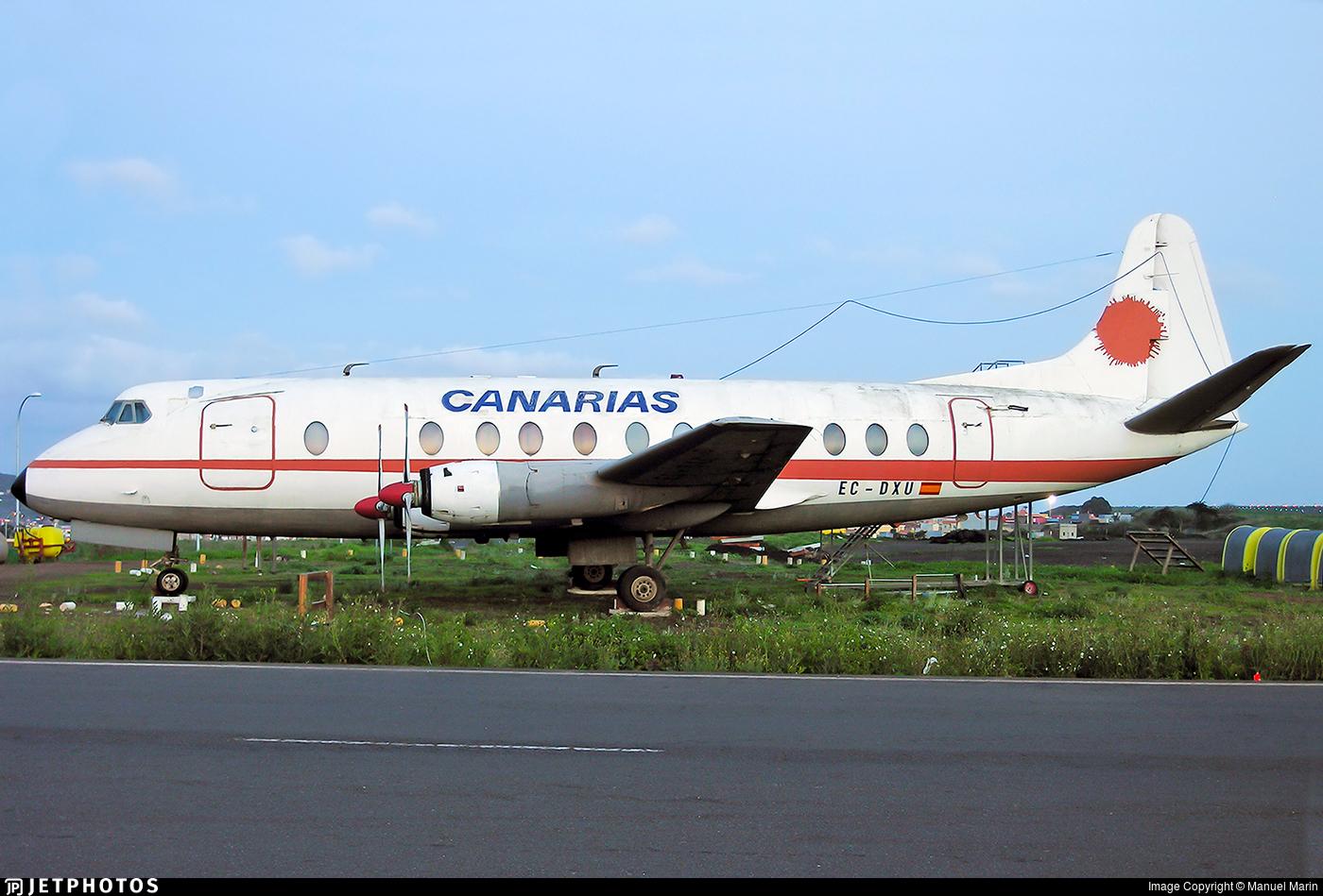 EC-DXU - Vickers Viscount 806 - Lineas Aereas Canarias (LAC)