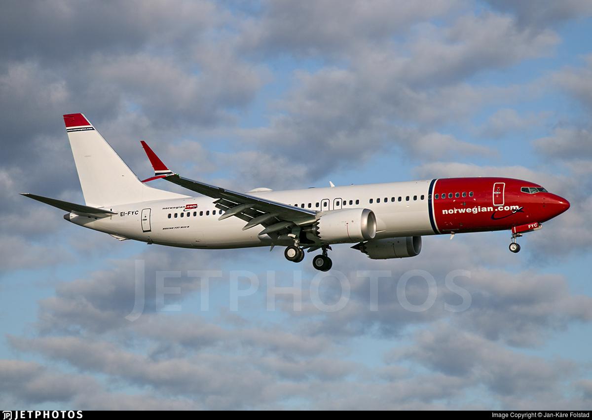 EI-FYC | Boeing 737-8 MAX | Norwegian | Jan-K�re Folstad | JetPhotos