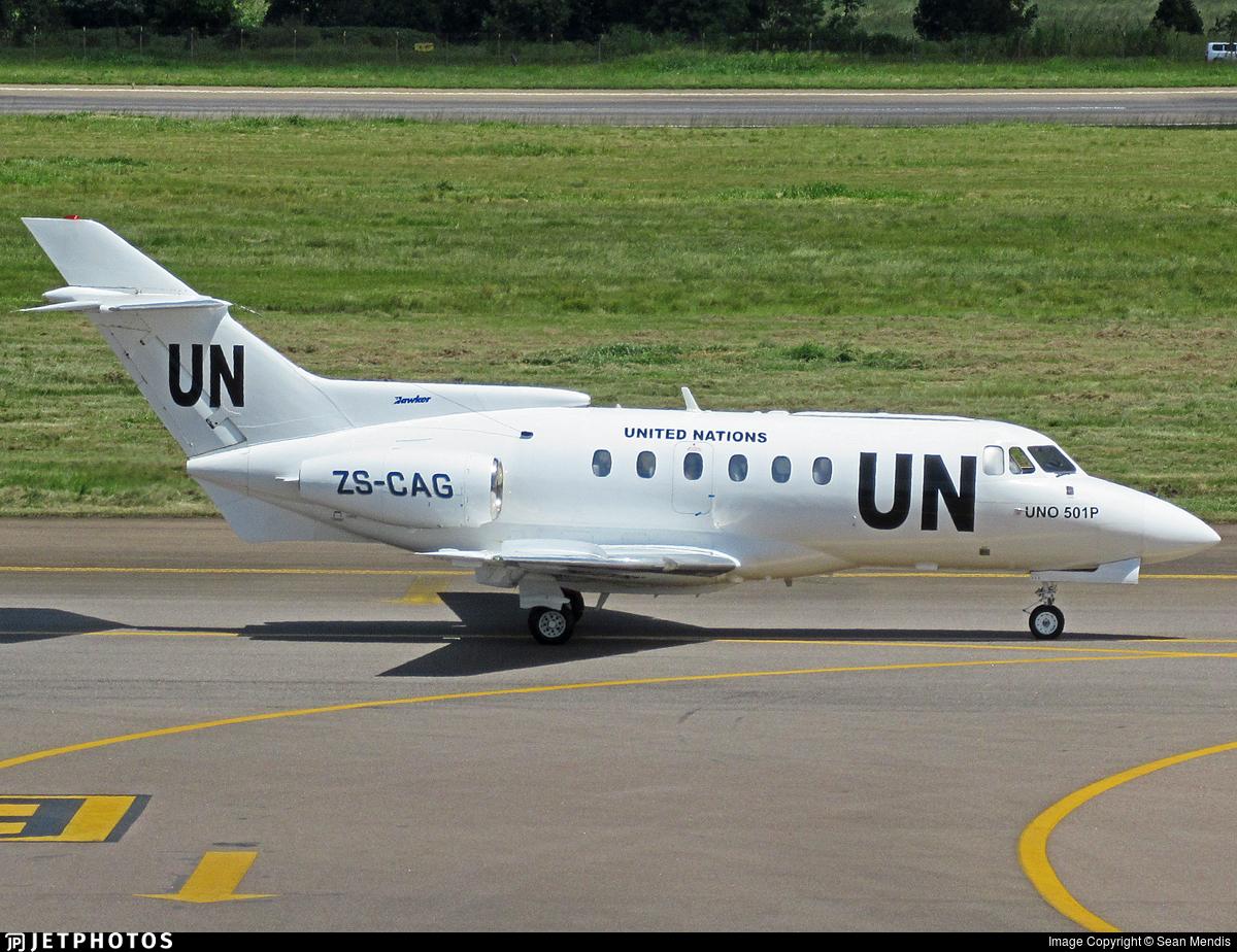 ZS-CAG - British Aerospace BAe 125-700B - United Nations (UN)