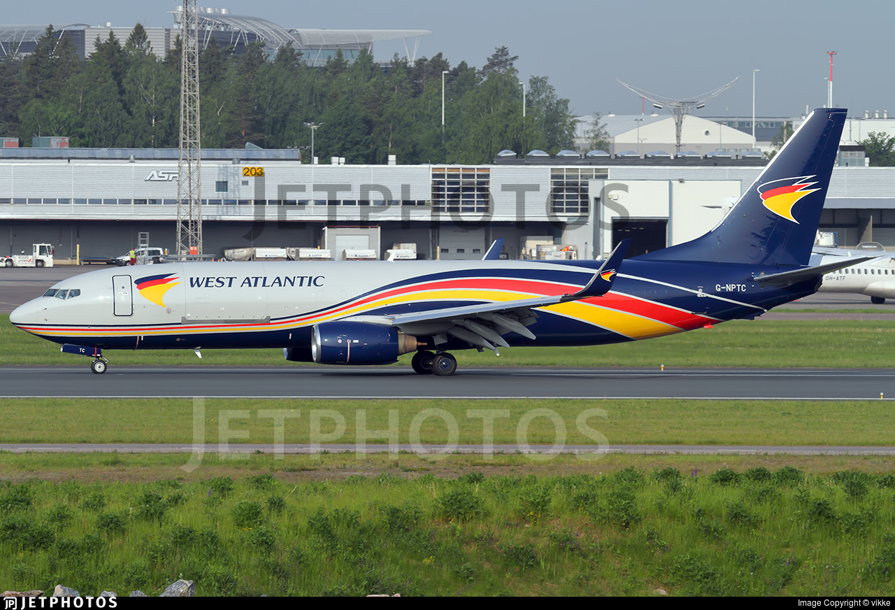 G-NPTC - Boeing 737-83N(BCF) - West Atlantic Airlines