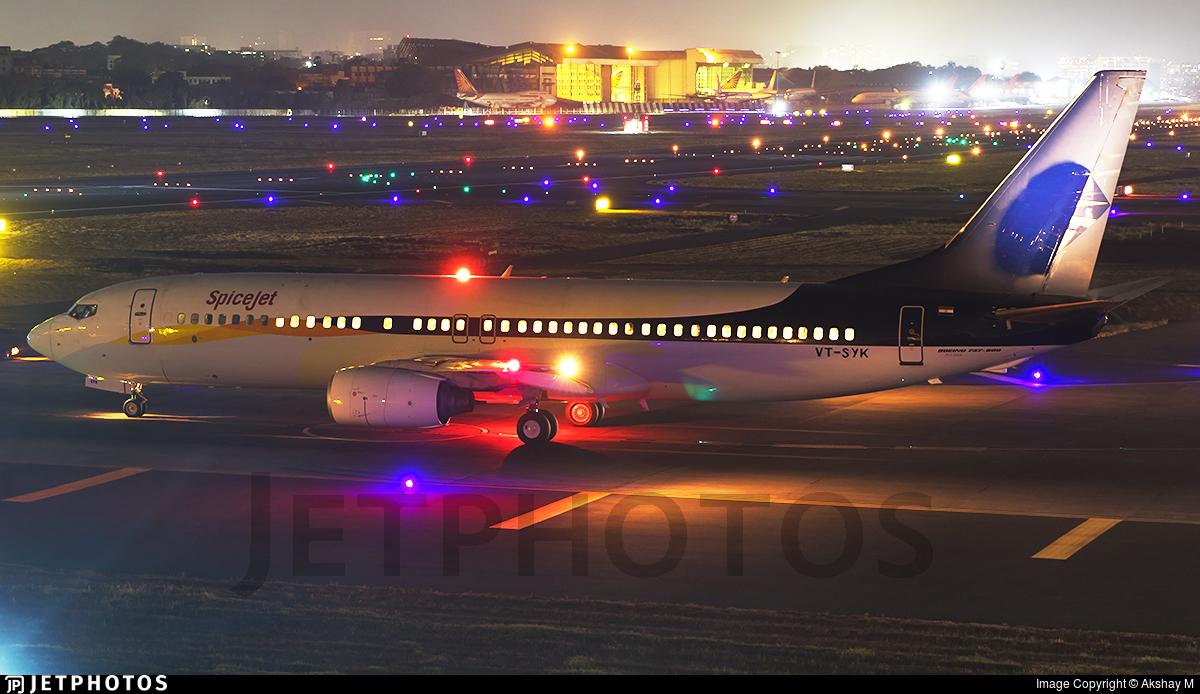 VT-SYK | Boeing 737-85R | SpiceJet | Akshay M | JetPhotos
