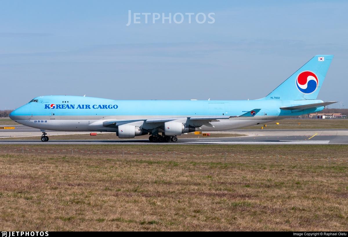 HL7602 - Boeing 747-4B5ERF - Korean Air Cargo