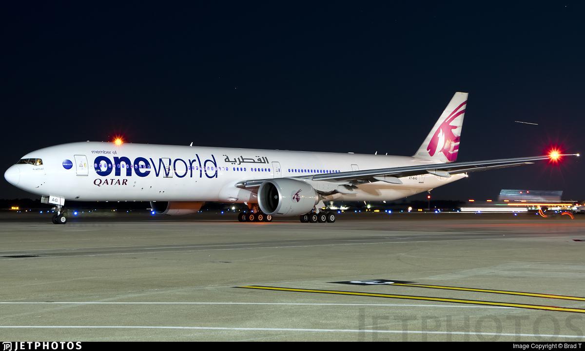 A7-BAG | Boeing 777-3DZER | Qatar Airways | Brad T | JetPhotos