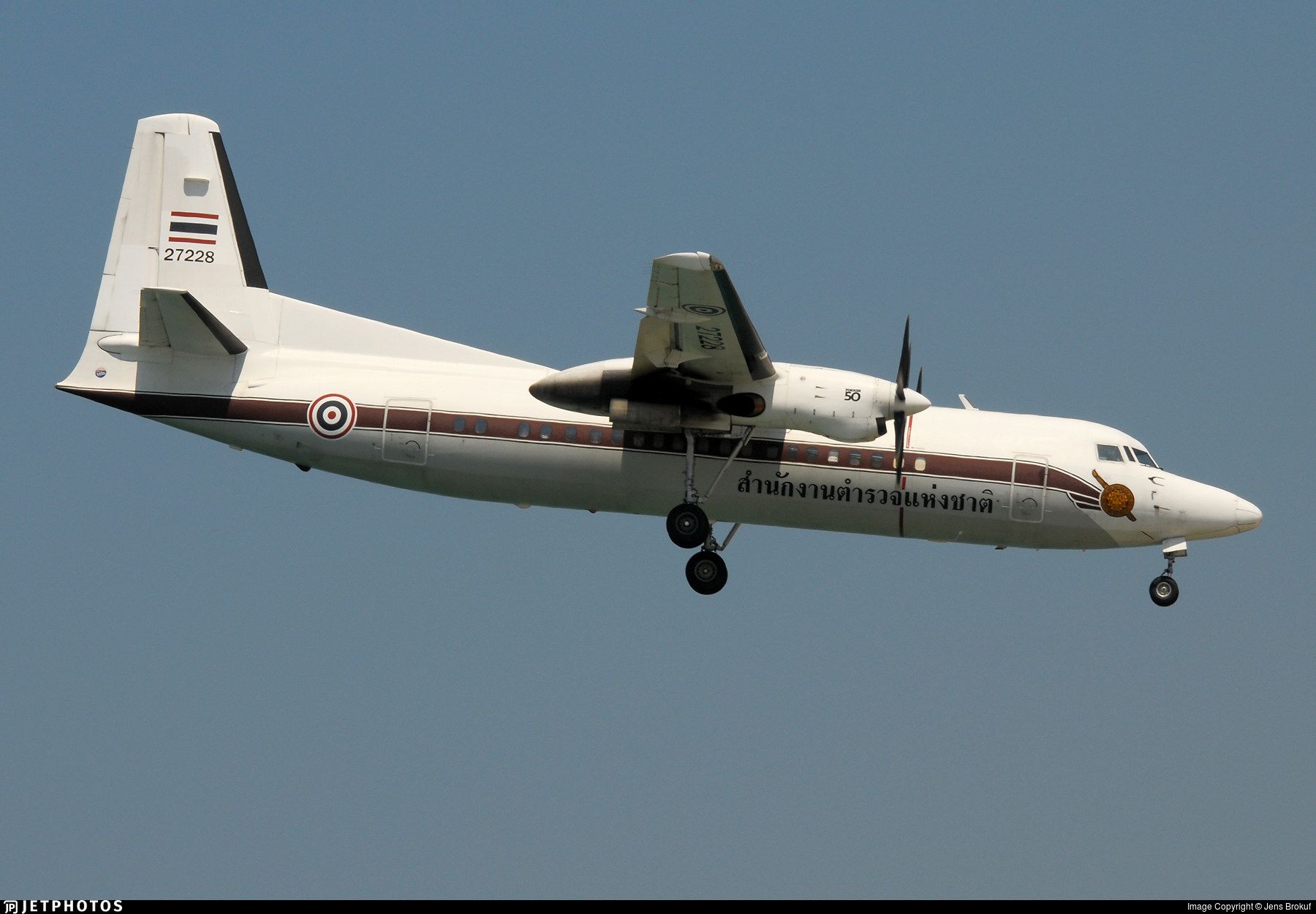 27228 - Fokker 50 - Thailand - Royal Thai Police Wing