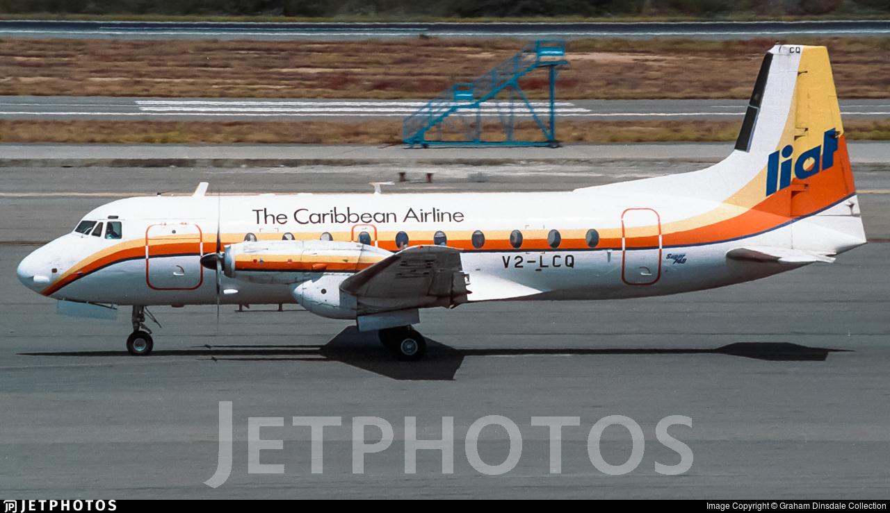 V2-LCQ - Hawker Siddeley HS-748 Series 2B - Leeward Islands Air Transport (LIAT)