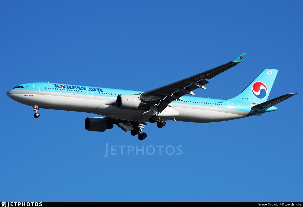 HL7701 - Airbus A330-323 - Korean Air