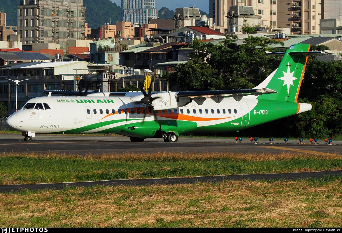 B-17013 - ATR 72-212A(600) - Uni Air