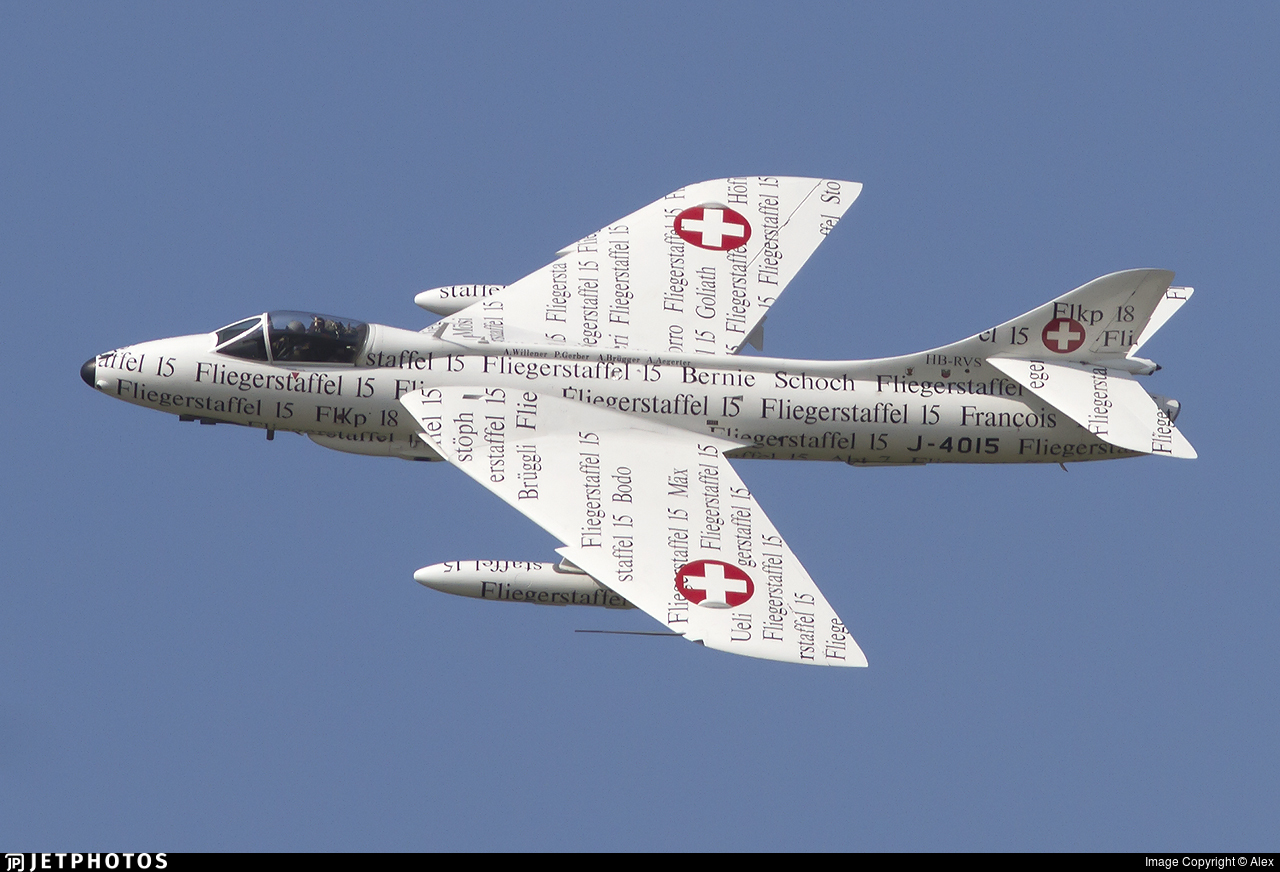 HB-RVS - Hawker Hunter F.58 - Hunterverein Obersimmental
