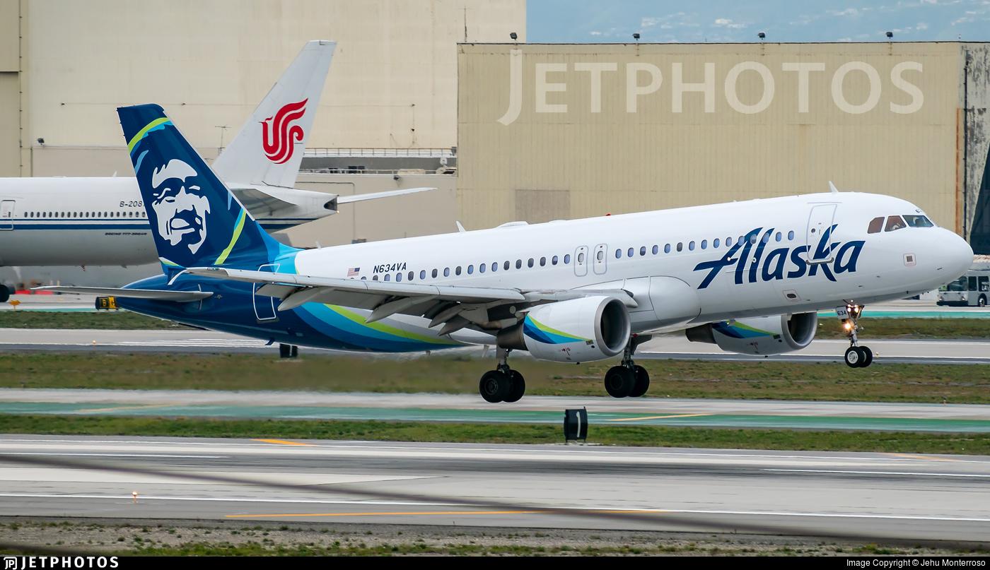 N634VA - Airbus A320-214 - Alaska Airlines