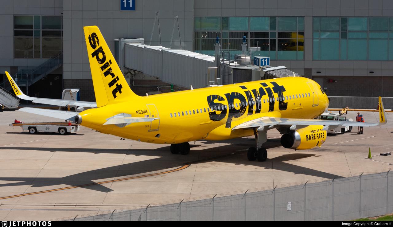 N691NK - Airbus A320-232 - Spirit Airlines