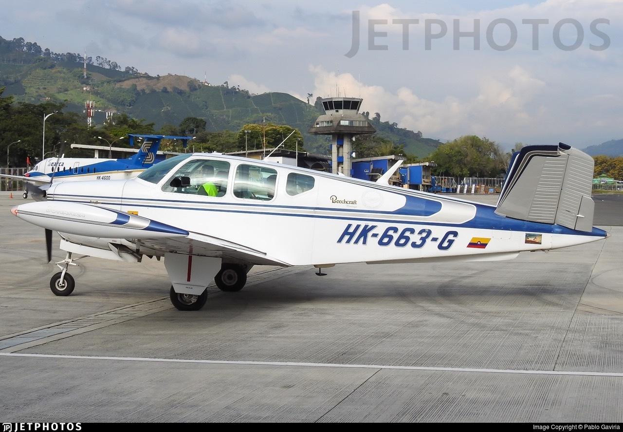 HK-663-G - Beechcraft V35 Bonanza - Patrulla Aerea Civil