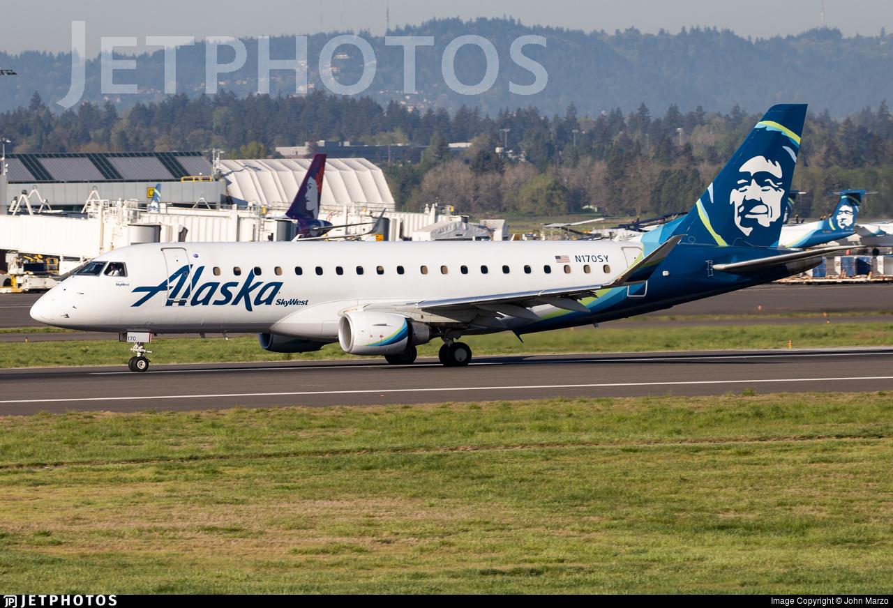 N170SY - Embraer 170-200LR - Alaska Airlines (Skywest Airlines)