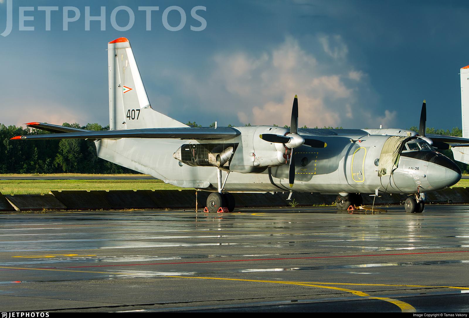 407 - Antonov An-26B - Hungary - Air Force