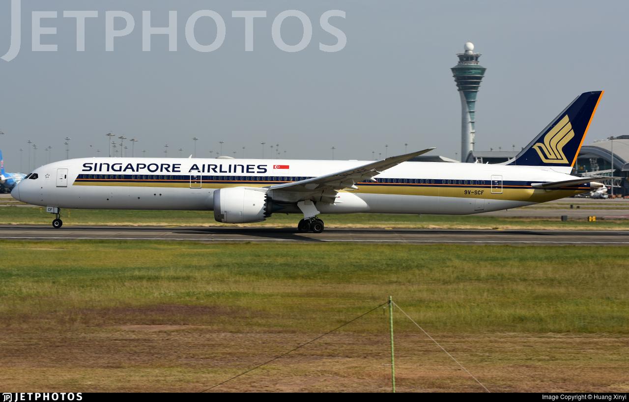 9V-SCF - Boeing 787-10 Dreamliner - Singapore Airlines