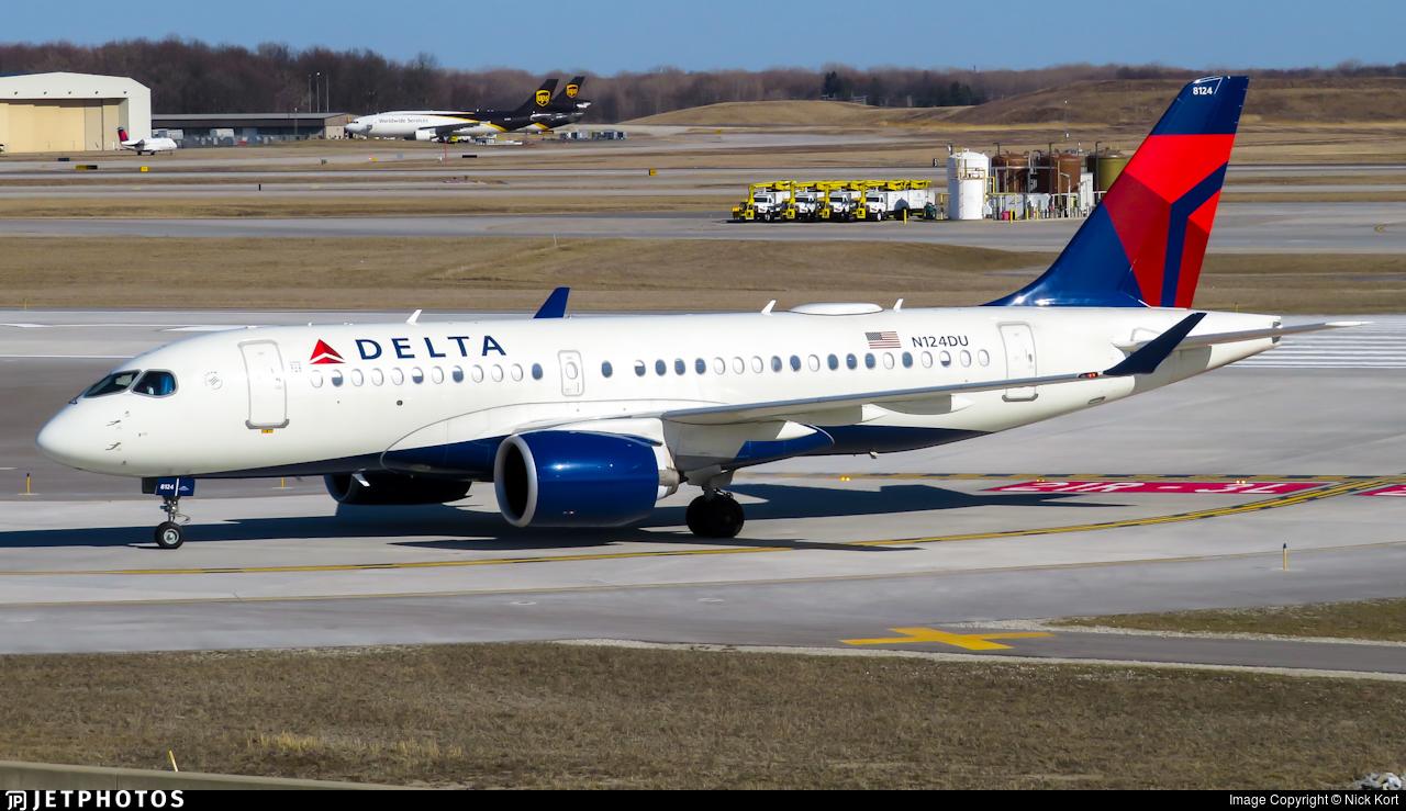 N124DU - Airbus A220-171 - Delta Air Lines