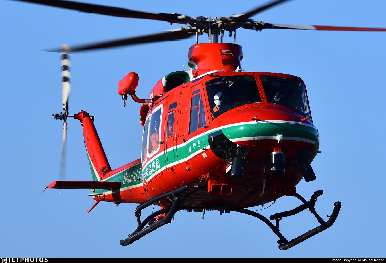 JA119T - Bell 412EP - Japan - Sendai City Fire Bureau
