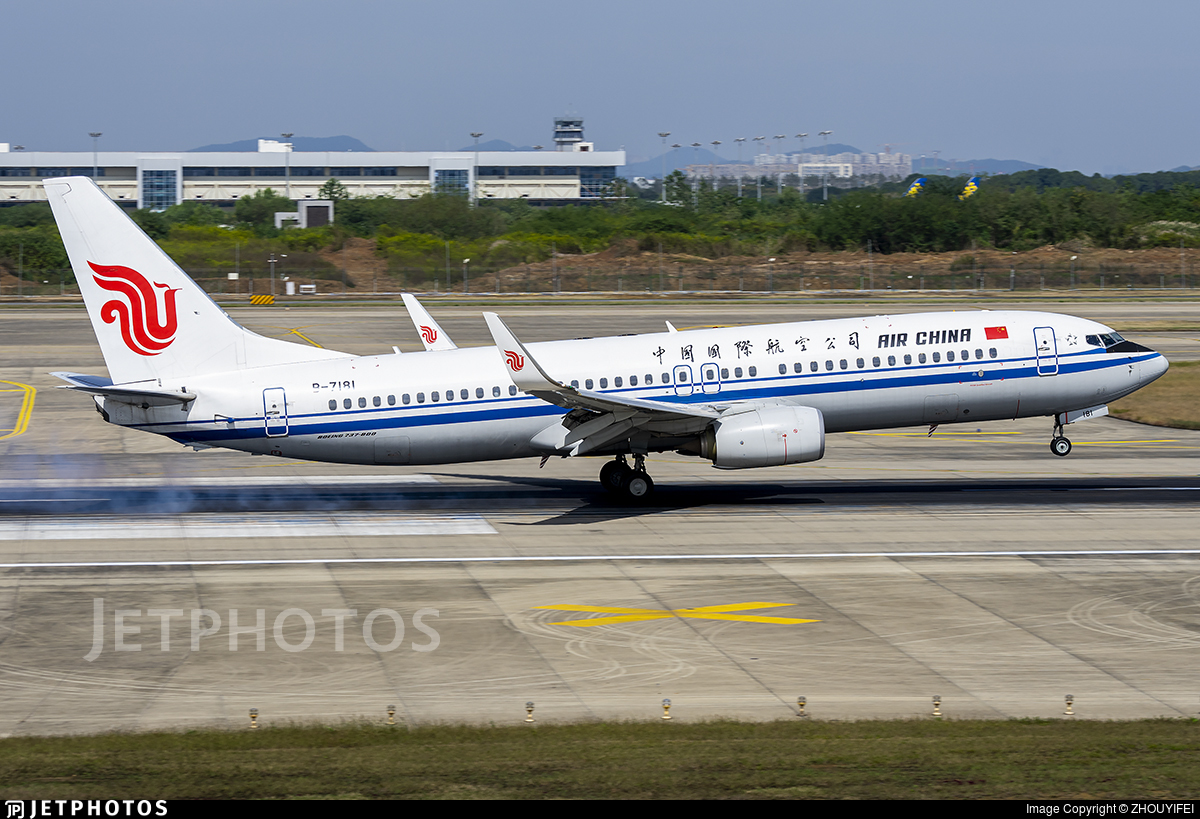 B-7181 - Boeing 737-89L - Air China